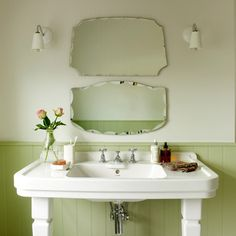 Green vintage bathroom | Country decorating ideas | Ideal Home | Housetohome
