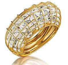 Verdura Anniversary Collection Caged bracelet with rock crystal. Diamond Jewelry, Jewelery, Silver Jewelry, Fine Jewelry, Unique Jewelry, Silver Ring, Jewelry Ideas, Fancy Jewellery, Vintage Jewellery