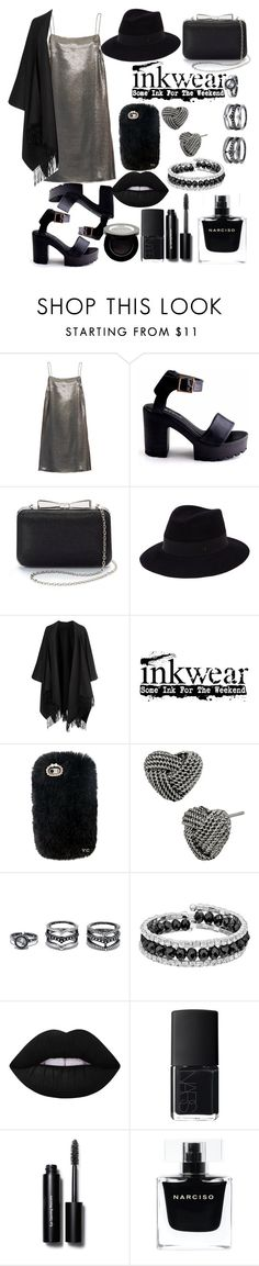 """Black panther/black look/black style"" by ljaspar ❤ liked on Polyvore featuring Yves Saint Laurent, La Regale, Maison Michel, Acne Studios, Betsey Johnson, Lulu*s, Franco Gia, Lime Crime, NARS Cosmetics and Bobbi Brown Cosmetics"