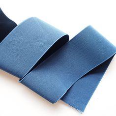 3 Navy Blue Textured Stretch Elastic Band (1 Yard ). $3.20, via Etsy.