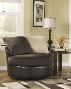 70415-44 Vivanne Chocolate Round Swivel Chair,$299.00
