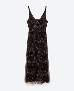 Image 8 of LONG TULLE DRESS WITH POLKA DOTS from Zara