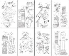 2번째 이미지 Korean Traditional, Traditional Art, Korean Painting, Korean Art, Magic Carpet, Pencil Illustration, Typography Design, Adult Coloring, Colored Pencils