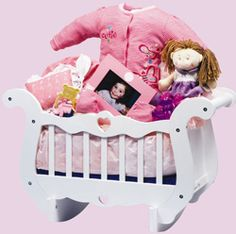 The Sleepy Time Cradle - your new baby girl will love having her very own cradle for her very own doll! Nutcracker Sweet, New Baby Girls, Gift Baskets, Baby Gifts, New Baby Products, Toddler Bed, Dolls, Babies, Home Decor