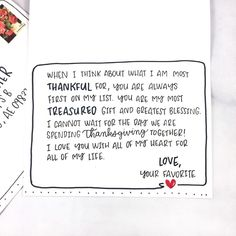 what to write in your thanksgiving cards
