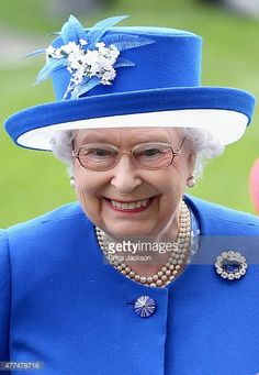 Queen Elizabeth II in the parade ring on day 2 of Royal Ascot at Ascot Racecourse on June 17, 2015 in Ascot, England.