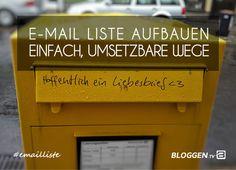 Email Liste aufbauen schnell, einfach, umsetzbare Wege