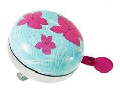 Fahrradklingel+Blumen,+blau/pink+-+Witzige+Fahrradklingel+in+buntem+Design.+Mit+zwei+kleinen+Schrauben+zum+Befestigen+am+Lenker.+Schraubschlüssel+nicht+im+Lieferumfang+enthalten.Material:+MetallMarke: