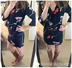 Spring dress and boots!