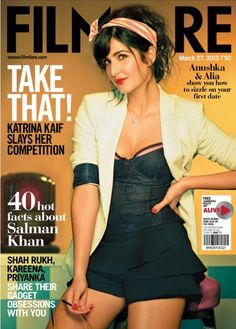 Katrina Kaif - Filmfare Magazine (March Katrina Kaif features on the cover of Filmfare Magazine's edition for the month of March She looks gorgeous on the cover but page with too much makeup. Anyway checkout Katrina Kaif Filmfare. Bollywood Actors, Bollywood Celebrities, Bollywood Fashion, Bollywood Bikini, Bollywood Cinema, Celebrities Fashion, Bollywood News, Katrina Kaif Bikini, Katrina Kaif Photo