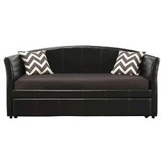 Halle Upholstered Daybed And Trundle Twin Brown/Black - Dorel Home Products