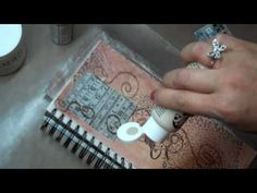 Playing in my art journal - Part 1 - YouTube