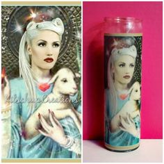 """This is the perfect addition to any Gwen Stefani or No Doubt fans life . 8"""" x 2"""" traditional prayer candle Fragrance Free The wax color you choose may vary from photo ."""