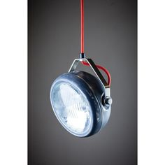 Hanglamp Vintage Koplamp grijs Het Lichtlab - Retro Designlampen