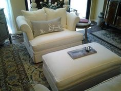 Picture Of Comfortable Oversized Chairs With Ottoman · Oversized ChairOne  HalfOttomansPictures ...