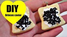 DIY BRINCOS CAVIAR #VEDA12 - Biscuit - Fimo