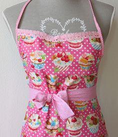 """Schürzen - Schürze """"pretty in pink"""" - ein Designerstück von die_naeherin bei DaWanda"""