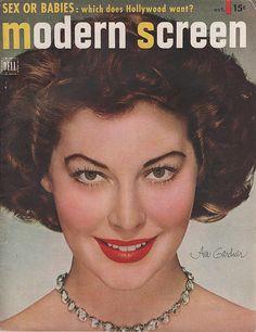 Ava Gardner on the October 1950 Modern Screen
