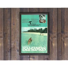 Bahamas Travel Poster  Relaxing Beach Photo  It's Better in the Bahamas  Vacation Destination Ad  Pool Wall Art Beach House Art Print by RetroPapers