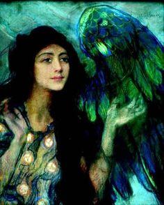 Green Angel, by Teodor Axentowicz (Polish-Armenian, 1859–1938)