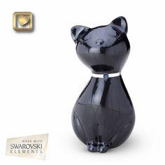 Midnight Princess Cat Pet Cremation Urn
