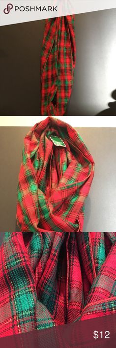 **Festive holiday scarf *final price drop* Super festive holiday scarf! Red and green with black and shiny gold accents. Adorable with a black dress or top for holiday and Christmas festivities! Accessories Scarves & Wraps