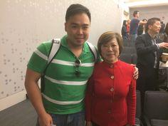 費德創辦人Bob(左)與唐南珊博士(右)於波士頓台灣生技論壇 (Boston Taiwanese Biotechnology Symposium)
