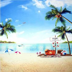 10x10ft 3x3m Summer Background For Photography Sand Beach Backdrops Aircraft Photo Backdrop Soft Fabric Camera
