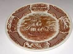 "Alfred Meakin Fair Winds Dinner Plate 10 1/2"" Staffordshire England  #AlfredMeakin"
