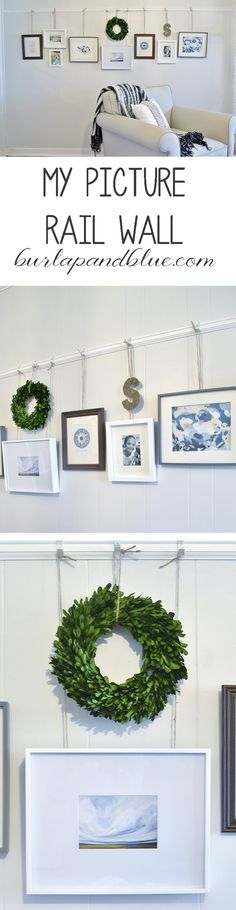 Picture Rail Wall! I love how this gallery wall turned out...