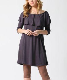 Black Ruffle Off-Shoulder Dress