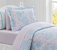 Love this bedding for Livie's future big girl room Casey Suzanni Duvet Cover #pbkids