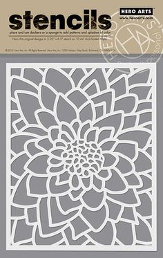 Hero Arts - Stencils - Large Flower