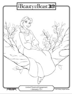 Disneys Beauty And The Beast Printables Coloring Pages Activities