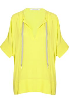 chic sporty crepe tunic