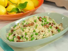 Rice with Peas and Bacon Recipe : Katie Lee : Food Network - FoodNetwork.com