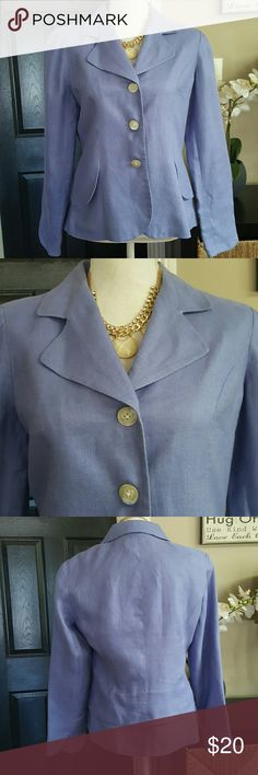 "Coldwater Creek Lavender Blazer sz 8 Lovely stylish Blazer,  fully lined in excellent condition. Material shell: 100% linen// lining 100% polyester.  Aprox 23.5"" long/ length  Shoulder to wrist length 24"" Arm inseam 18"" Coldwater Creek Jackets & Coats Blazers"