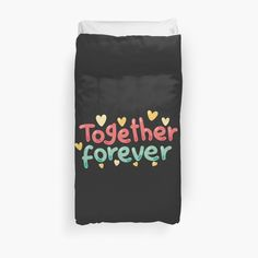 Siblings, Twins, Together Forever, Dorm Bedding, Graphic Art, Duvet Covers, Friendship, Printed, Digital