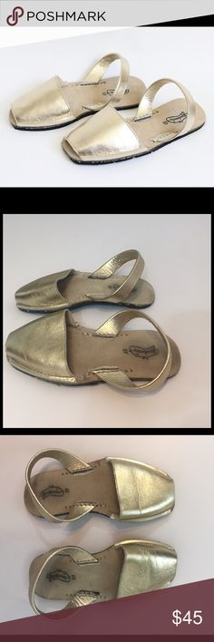 Riudavets Avarcas Gold Sandals So cute Riudavets gold sandals. Perfect condition. Size 37 - Us 7 riudavets Shoes Sandals