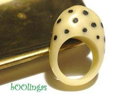 African Polymer Clay Ring by bOOlingas, via Flickr