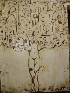 vladimiro lunardon, scritture on ArtStack #vladimiro-lunardon #art Mural Art, Tree Art, Cool Art, Nature Photography, Vintage World Maps, Abstract Art, Artwork, Painting, Visigothic