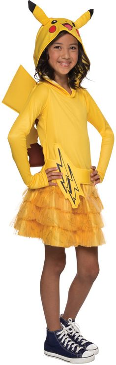 Pokemon: Pikachu Hoodie Child Dress | (Medium)