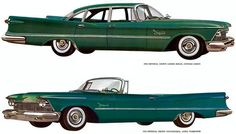 1958 Imperial Crown 4-Door Sedan and Convertible