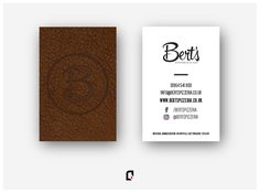 • bert's pizzeria • graphic design • www.bertspizzeria.co.uk •