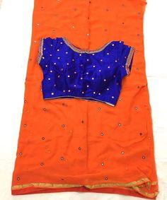 Exclusive Mirror Work Sarees With Beautiful Mirror Work Blouses   buy Online Sarees   Elegant Fashion Wear