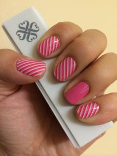 Skinny Pink and Bubble Gum Jamberry Nail Wraps! Check them out at www.MarySeto.JamberryNails.net!