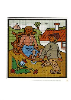 Cross Stitch, Kids Rugs, Punto De Cruz, Kid Friendly Rugs, Seed Stitch, Cross Stitches, Crossstitch, Punto Croce, Nursery Rugs