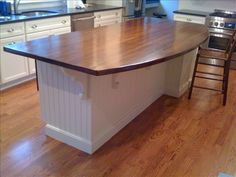 Heart Pine Rustic Dark Stain Island - contemporary - kitchen islands and kitchen carts - other metro - by The Reclaimed Kitchen Company