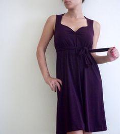 Sweetheart purple dress