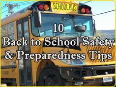 These 10 Back to School Safety Tips to help give emergency preparedness guidance to children of all ages resources if a natural disaster or a tragic man Survival Mode, Homestead Survival, School Safety, National School, Safety Tips, Natural Disasters, Emergency Preparedness, Bullying, Homesteading